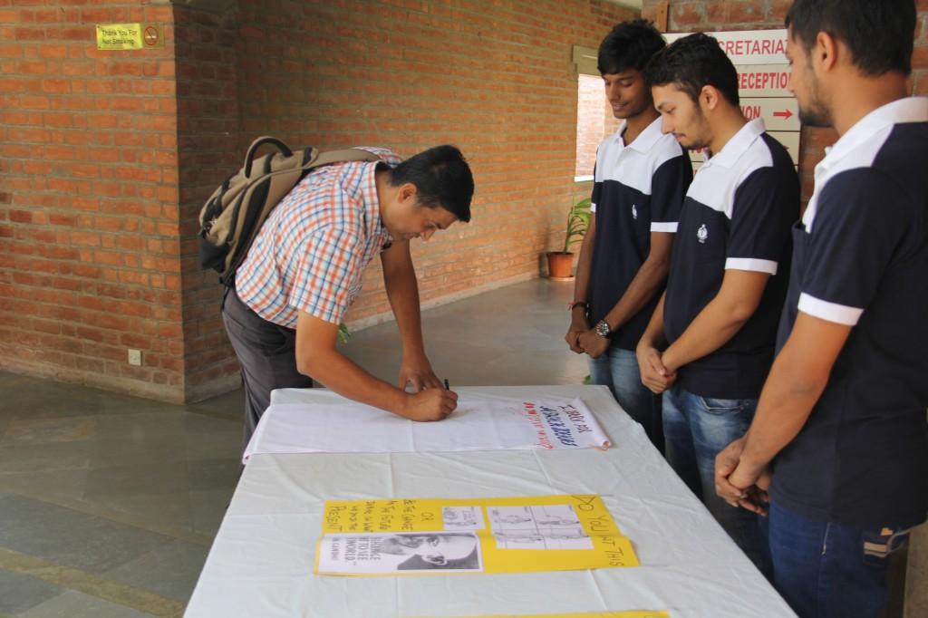 Shri Satya Acharya, Faculty, at EDI Oath Campaign